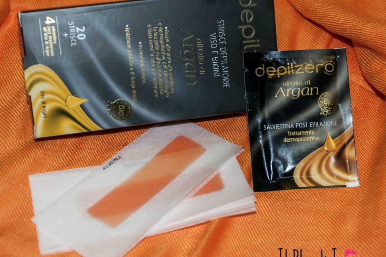 [Review] – Strisce depilatorie Viso e Bikini all'olio d'argan Depilzero