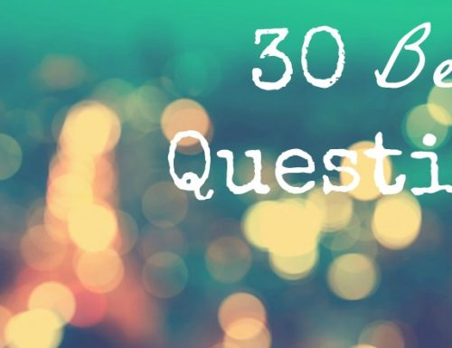 [Tag] – 30 Beauty Questions