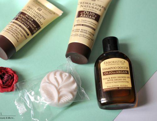 L'Erboristica Athena's Olio d'Argan: Shampoo Doccia, Crema Corpo Naturale & Trattamento Intensivo Riparatore Viso