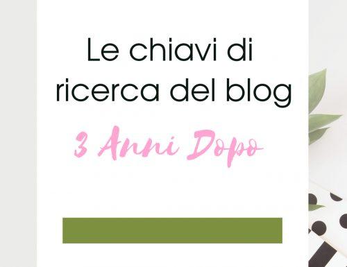 """Le chiavi di ricerca de """"Il Blog di I."""" – 3 Anni dopo"""