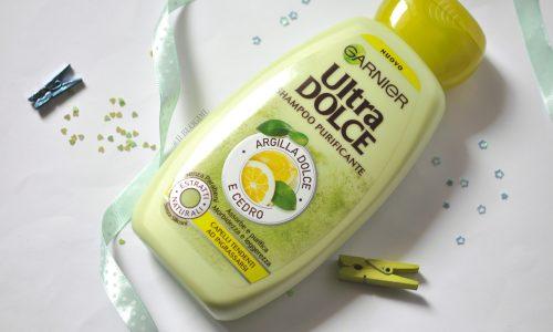 3 Shampoo da supermercato per capelli grassi: Ultra Dolce Garnier Argilla Dolce & Cedro, Elvive Argilla Straordinaria & Antica Erboristeria Ortica
