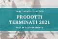 [Smaltimento cosmetico] - Prodotti terminati del 2021