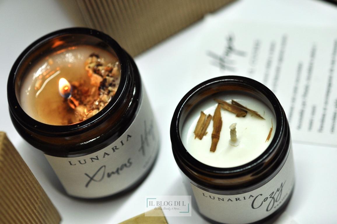 cozy lunaria candles